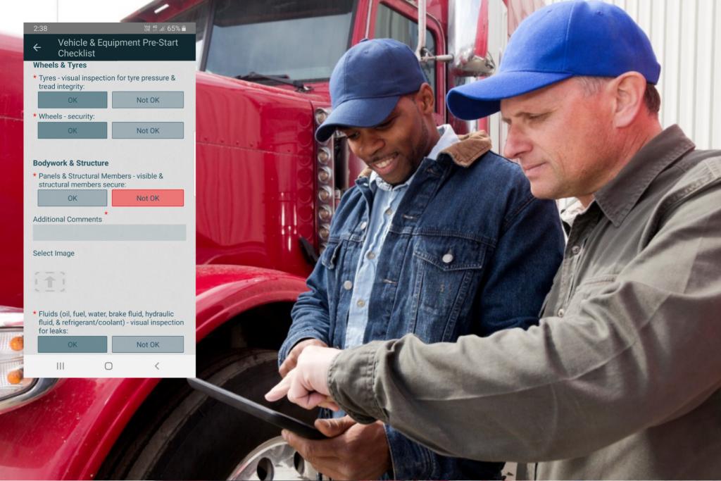 heavy vehicle pre-start checklist template