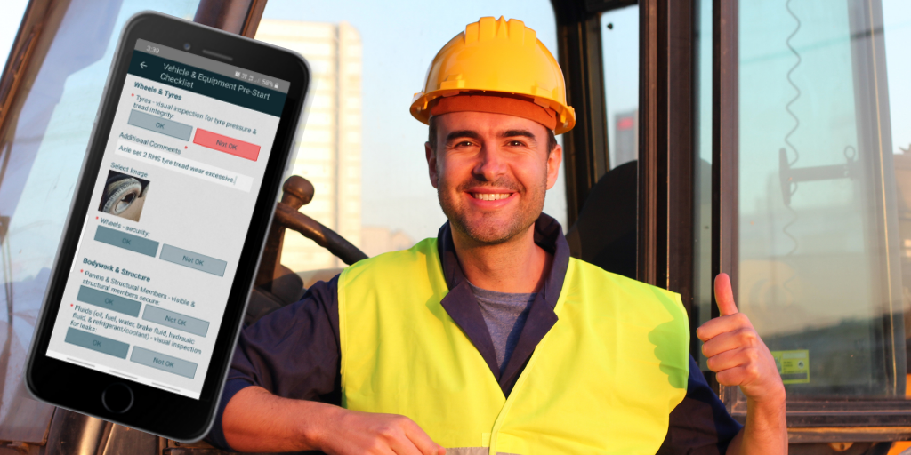 DIGI CLIP truck and equipment pre-start checklist app